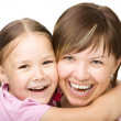 Portrait of a happy mother with her daughter — Stock Photo #21961387