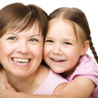Portrait of a happy mother with her daughter — Stock Photo #21961417