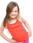 Fashion portrait of a little girl — Stock Photo