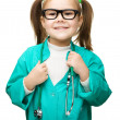 Cute little girl is playing doctor — Stock Photo #22989786