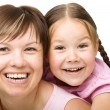 Portrait of a happy mother with her daughter — Stock Photo #23067570