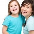 Portrait of a happy mother with her daughter — Stock Photo #24010507
