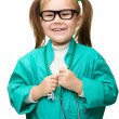 Cute little girl is playing doctor — Stock Photo #24503307