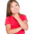 Little girl is thinking about something — Stock Photo #28297173