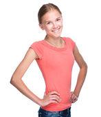 一个年轻女孩的肖像 — 图库照片