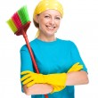 Young woman as a cleaning maid — Stock Photo #30173499