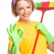 Young woman as a cleaning maid — Stock Photo #30933493