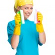 Young woman as a cleaning maid — Stock Photo #31903101