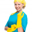 Young woman as a cleaning maid — Stock Photo #31903793