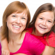 Stock Photo: Portrait of a happy mother with her daughter