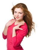 Portrait of a young woman — Zdjęcie stockowe