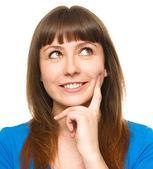 Retrato de una mujer joven feliz — Foto de Stock