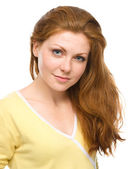 Portrait of a young cheerful woman — Foto Stock