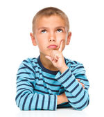 Portrait of a pensive little boy — Stock Photo
