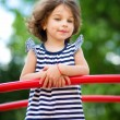 Cute little girl is playing in playground — Stock Photo #50636229