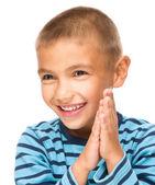 Portrait of a cute little boy — Stock Photo