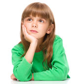 Portrait of a pensive little girl — Stock Photo