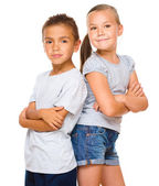 Portrait of girl and boy — Stock Photo