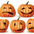 Royalty-Free Stock Vector Image: Halloween pumpkin set