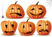 Halloween pumpkin set — Vecteur