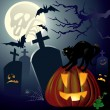halloween night — Stock Vector