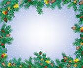 Nyår och jul ram — Stockvektor