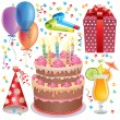 Birthday set — Stock Vector #13584089