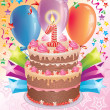 Birthday cake with the number age - Stock Vector