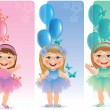 Beautiful banner with cute little girl — Stock Vector #13936190