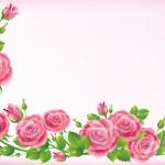 Frame of roses — Stock Vector