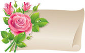 Roses scroll — Stock Vector
