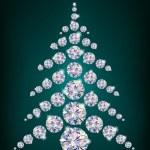 Diamond Christmas Tree — Stock Vector #14714301