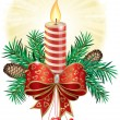 Christmas Candle — Vector de stock