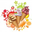 Different fruit sorbet - Imagen vectorial
