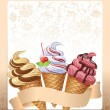Ice cream menu — Vector de stock