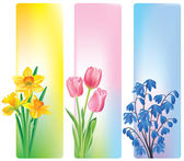 Spring flowers banners — Vector de stock