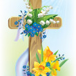 Stock Vector: Easter cross