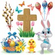 Easter symbols set — Stock Vector