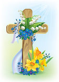 Easter cross — Stock Vector