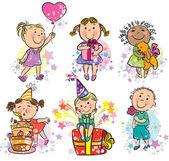 Illustration kids celebrating — Stock Vector