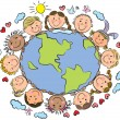 Stock Vector: Kids of the Earth