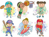 Sporting kids — Stock Vector