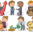 Business kids — Stock Vector