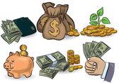 Money set — Stock Vector