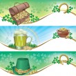 Royalty-Free Stock Vector Image: St. Patrick\'s Day horizontal banners