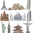Architectural wonders of world vector collection — Stock Vector #22275141