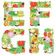 Alphabet of vegetables EFGH — Stock Vector #23818417