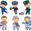 Professions kids set 1 — 图库矢量图片