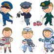 Stock Vector: Professions kids set 1