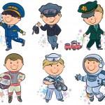 Дети профессий набор 1 — Cтоковый вектор